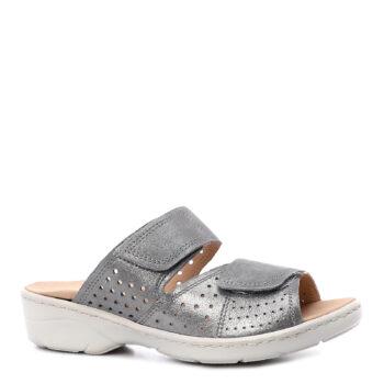 Caprice slippers i sølv nubuck