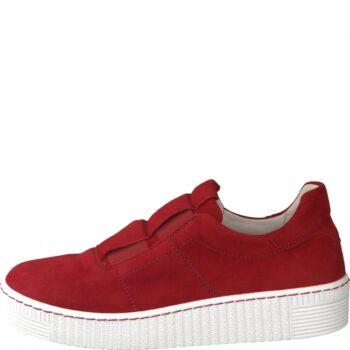 Gabor loafer i lækkert rødt ruskind