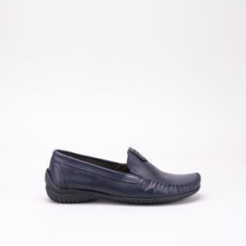 Gabor loafer i glat blå skind