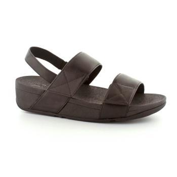 FitFlop Mina sandal i glat sort skind