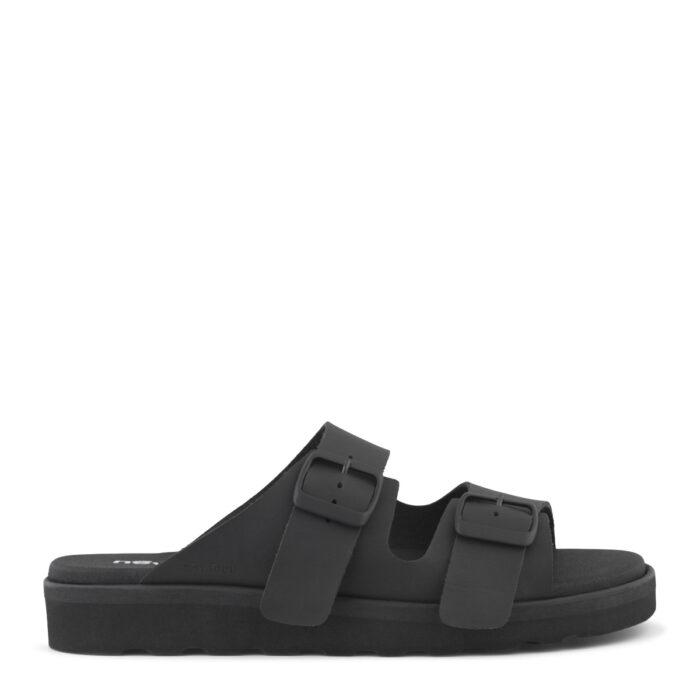 New Feet slipper i helt sort