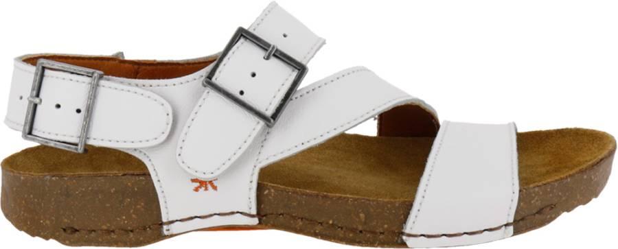 Art hvid skind sandal
