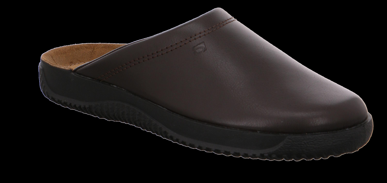 Rhode slippers i brun skind
