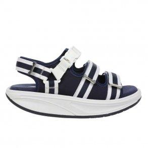 MBT Kim sandal i blå hvid kombination