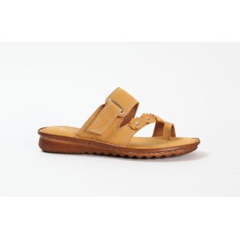 Relaxshoe tåsplit sandal i smart gul skind