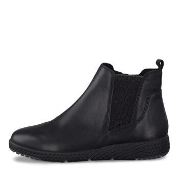 Marco Tozzi glat sort skind støvle
