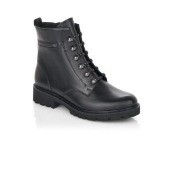 Remonte støvle i sort skind