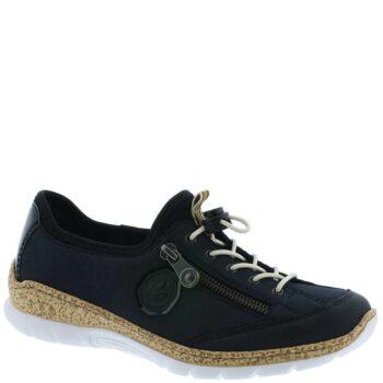 Rieker loafer i mørkeblå imiteret skind