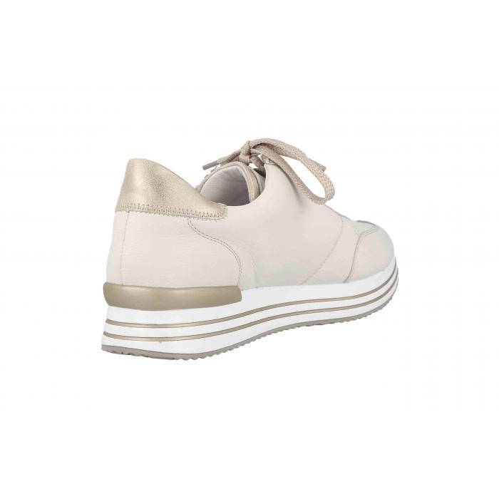 Remonte by Rieker sneaker i creme farvet skind,platin farve