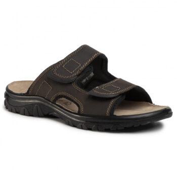 Marco Tozzi slippers i brun skind, herre