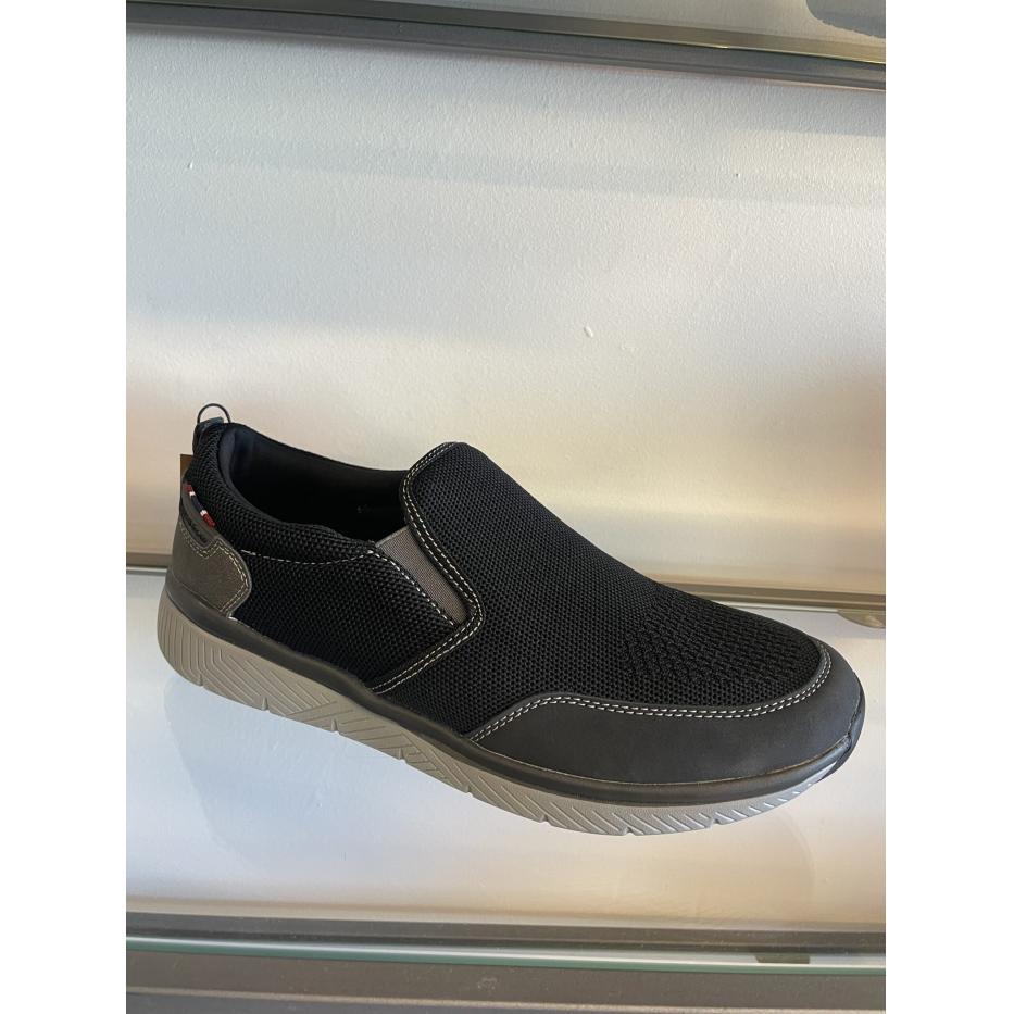 Rugged gear herre loafer i sort mesh