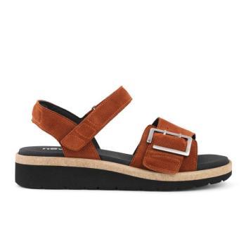New Feet sandal i flot varm terracotta farve