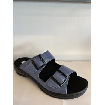 Fidelio slippers i metallic blå