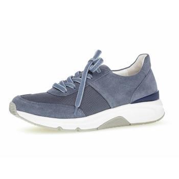 Gabor rolling soft, snørersko, blå snøre sko