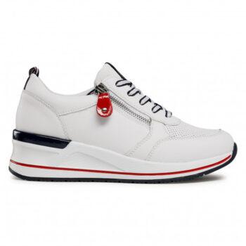 Remonte by Rieker sneaker i hvidt skind